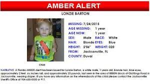 Lonzie Barton Amber Alert