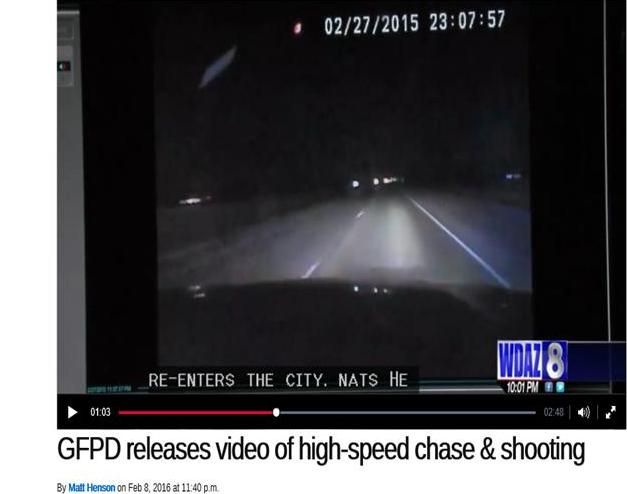 WDAZ screenshot Elliott pursuit termination