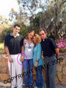 Left to Right: Jeremiah Regan, Crystal Sheffield, Wayanne Kruger, John Regan (the undercover pedophile)