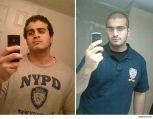 Omar Mateen donning is NYPD attire